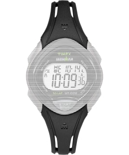 Replacement 16mm Resin Strap for Ironman Sleek 30 Mid Size, Black, large
