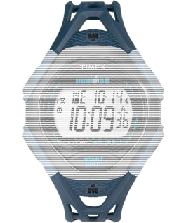 Replacement 17mm Resin Strap for Ironman Sleek 30 Full-Size, Blue, large