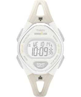 Replacement 14mm Silicone Strap for IRONMAN Sleek 50 Mid-Size, White, large
