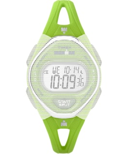 Replacement 14mm Silicone Strap for IRONMAN Sleek 50 Mid-Size, Green, large