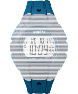 Replacement 18mm Resin Strap for Ironman Essential 10 Full-Size, Blue, large