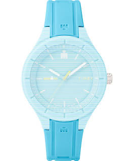Replacement 18mm Silicone Strap for IRONMAN Essential, Blue, large
