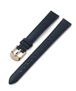 14mm Rose Gold Tone Buckle Leather Strap Blue large