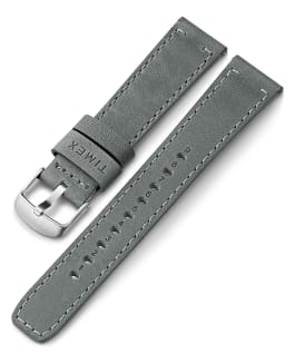 20mm Quick Release Leather Strap, Gray, large