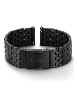 20mm Quick Release Stainless Steel Bracelet, Black, large