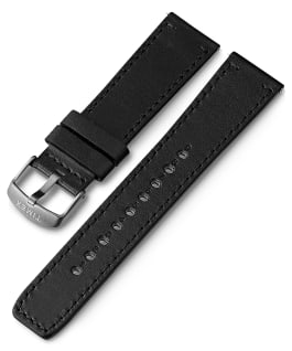 22mm Quick Release Leather Strap 1 Black large