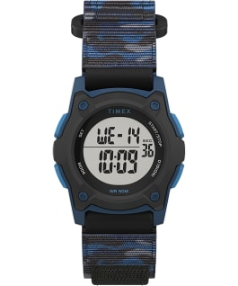 Kids Digital 35mm Fast Wrap Strap Watch Blue/Camo large