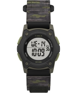 Kids Digital 35mm Fast Wrap Strap Watch Black/Green/Gray large