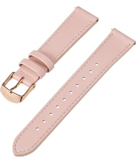 18mm Quick Release Leather Strap with Timex Pay Pink large