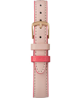 Easy Reader with Timex Pay 30mm Leather Strap Watch Rose-Gold-Tone/Pink/Cream large