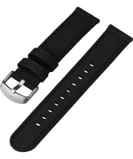20mm Fabric Strap with Timex Pay Black large