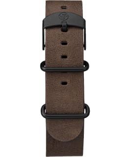 Expedition Scout 40mm Slip Thru Leather Watch Black/Brown/Natural large