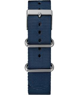 Weekender Chrono 40mm Nylon Strap Watch Silver-Tone/Blue/Cream large