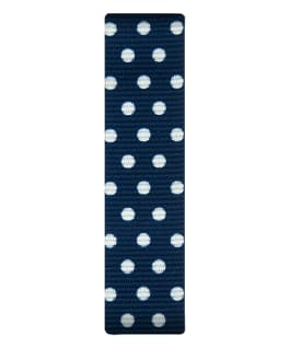 Blue/White Dots Nylon Slip-thru Strap  large