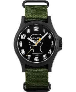 Timex x Brain Dead 40mm Fabric Strap Watch Black/Green large