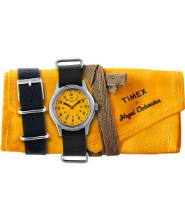 Timex x Nigel Cabourn 36mm Camper Stainless-Steel/Black/Orange large