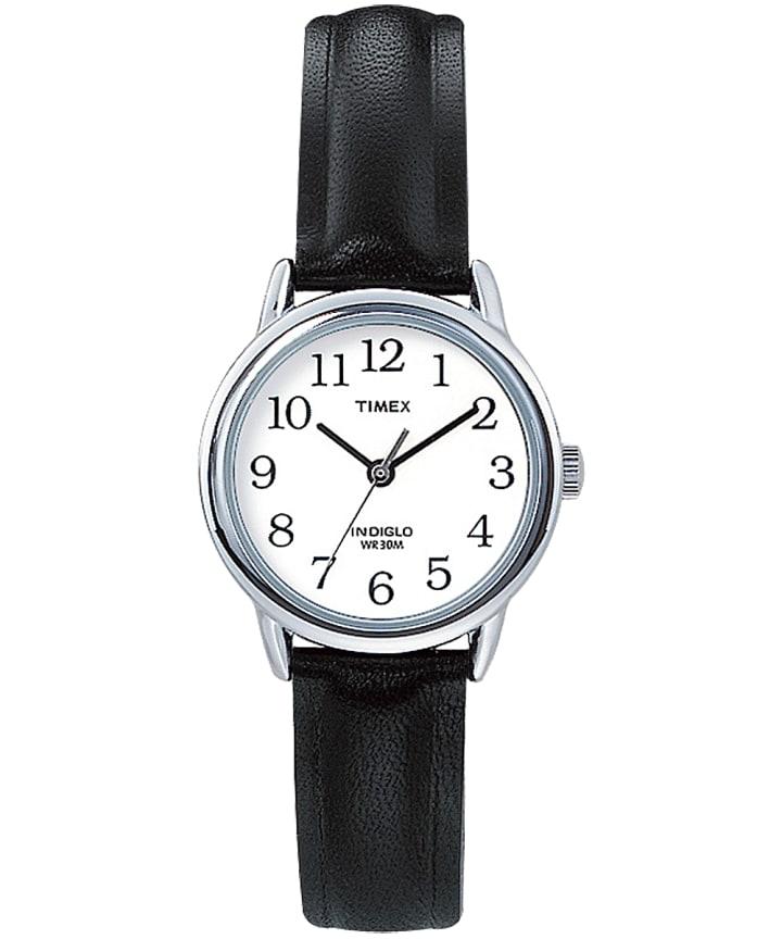 Easy Reader 25mm, grande, bracelet en cuir ton argent/noir/blanc