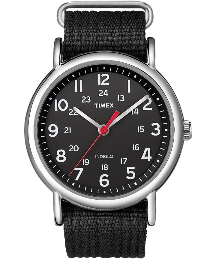 Weekender 38mm Fabric Strap Watch Silver-Tone/Black large