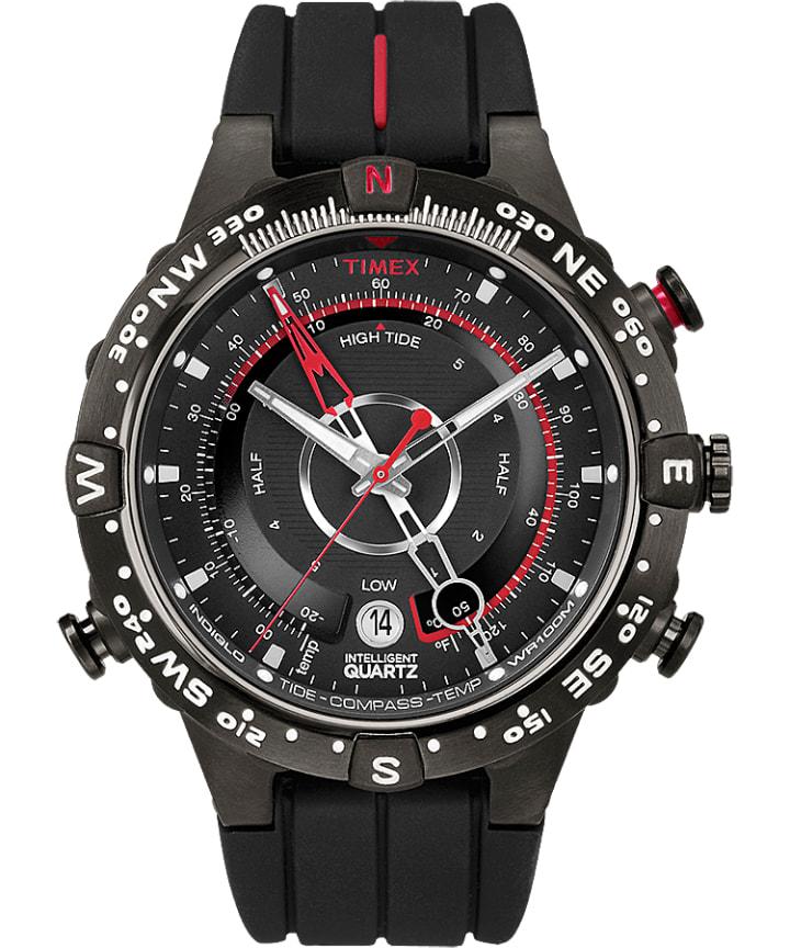 Intelligent Quartz Tide Temp Compass 43mm Silicone Strap Watch  large