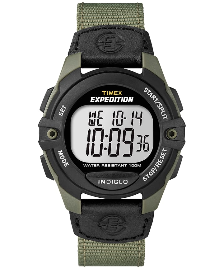 Expedition Chrono-Alarm-Timer 41mm Fabric Strap Watch Green/Black large