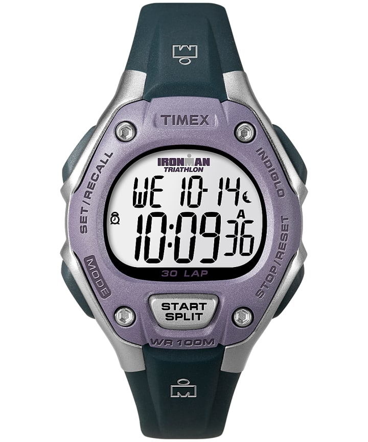IRONMAN Classic 30 Mid-Size Resin Strap Watch Silver-Tone/Black/Purple large
