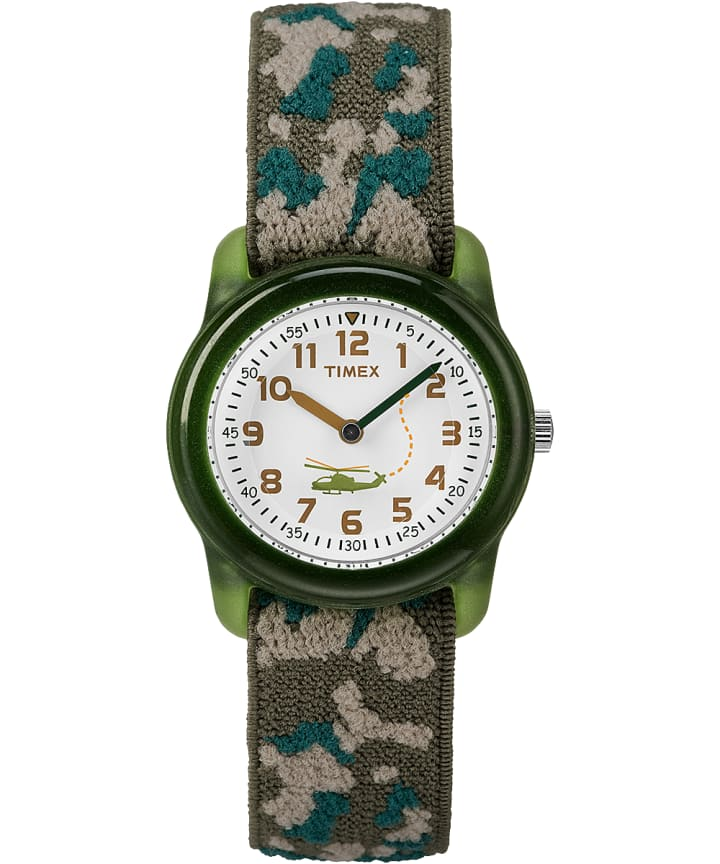 Kids Analog 29mm Elastic Camo Fabric Watch  large