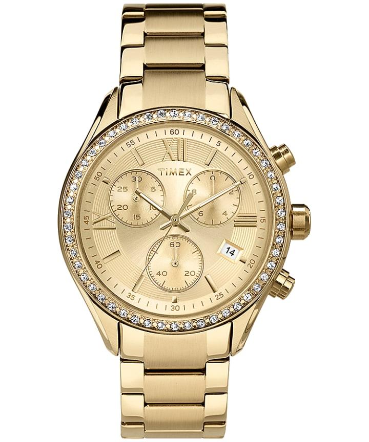 Zegarek Miami z kryształkami Swarovski®, kopertą 38 mm oraz bransoletką Gold-Tone/Champagne large