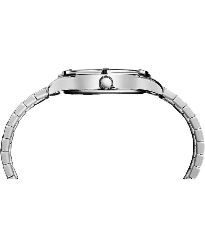 Easton Avenue 39mm, grande, bracelet extensible ton argent/noir