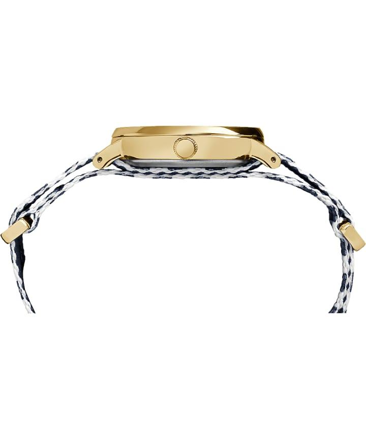 Fairfield 37mm Nylon Strap Watch Gold-Tone/Blue/White large