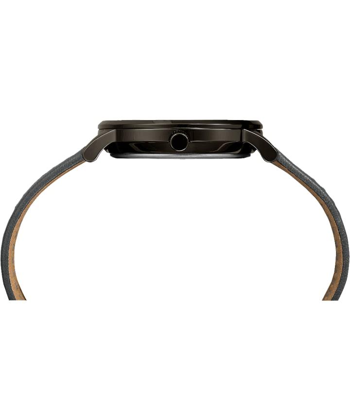 Waterbury classique 40mm, grande, bracelet en cuir gris