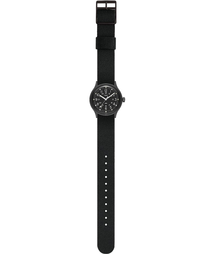 MK1 36mm Military inspired Grosgrain Strap Watch Black large