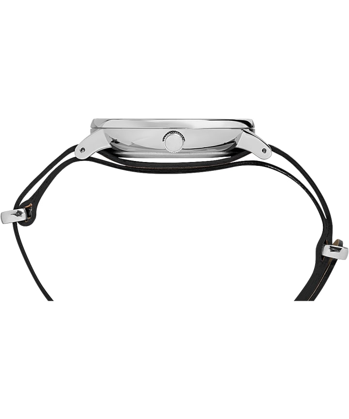 Montre Southview 41mm Bracelet en cuir Silver-Tone/Black large