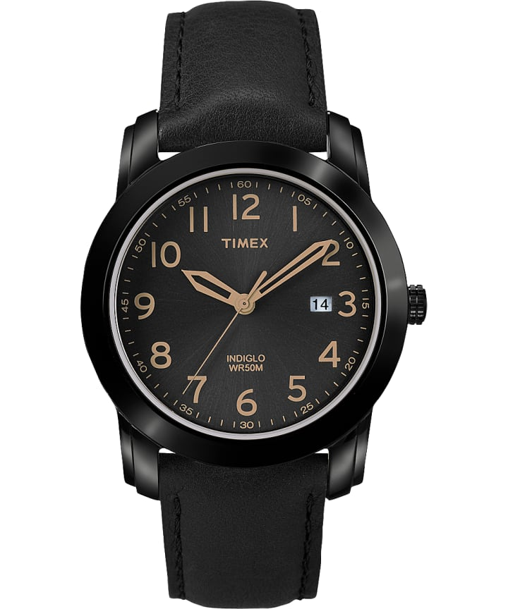 Easy Reader 39mm Leather Watch with Date  large