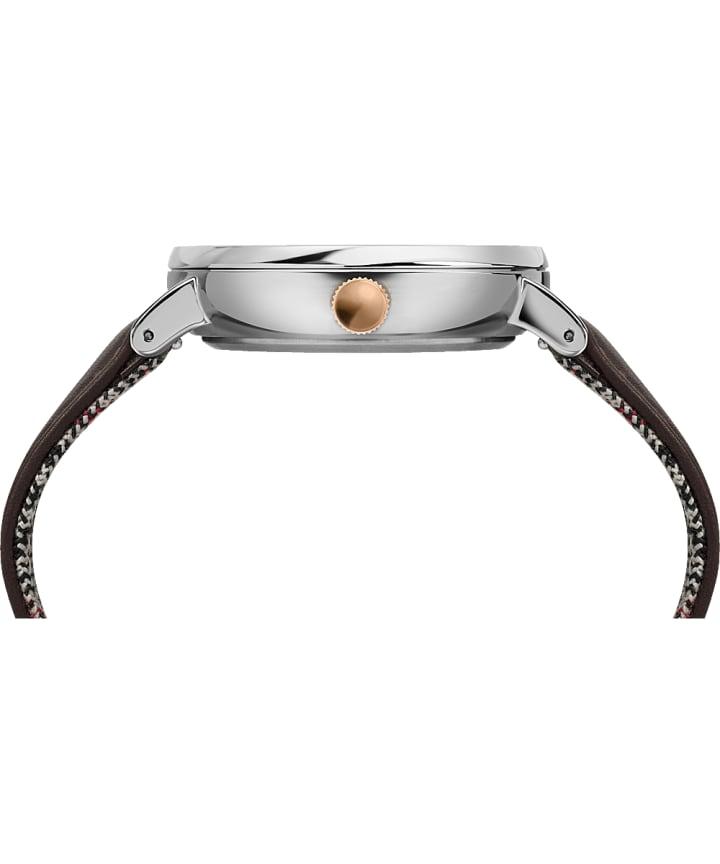 Reloj Fairfield Sub-Second de 41mm con correa de cuero Silver-Tone/Brown/Black large