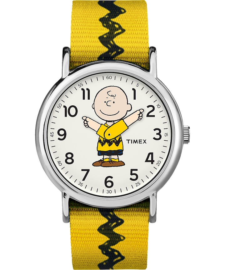 Charlie Brown 38mm Nylon Strap Watch   large