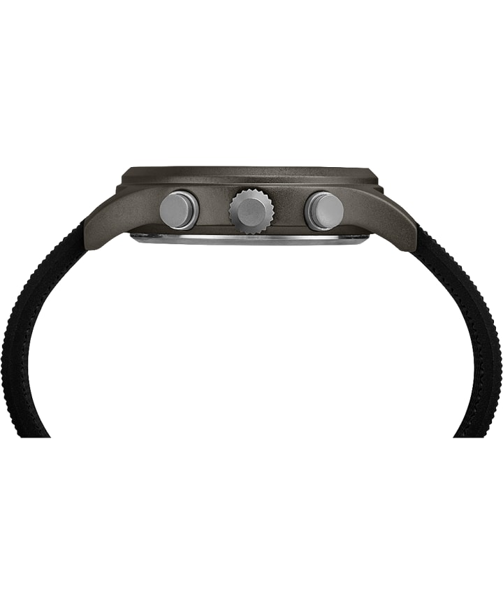 Montre chronomètre Allied 42mm Bracelet en silicone Gray/Black large