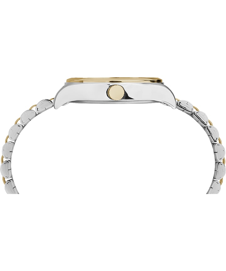 Waterbury Traditional 34mm Stainless Steel Bracelet Watch Two-Tone/White large