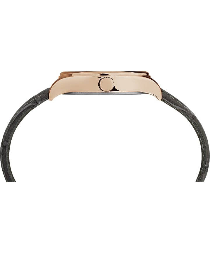 Montre Waterbury Traditional 34 mm Bracelet en cuir Rose-Gold-Tone/Gray/White large
