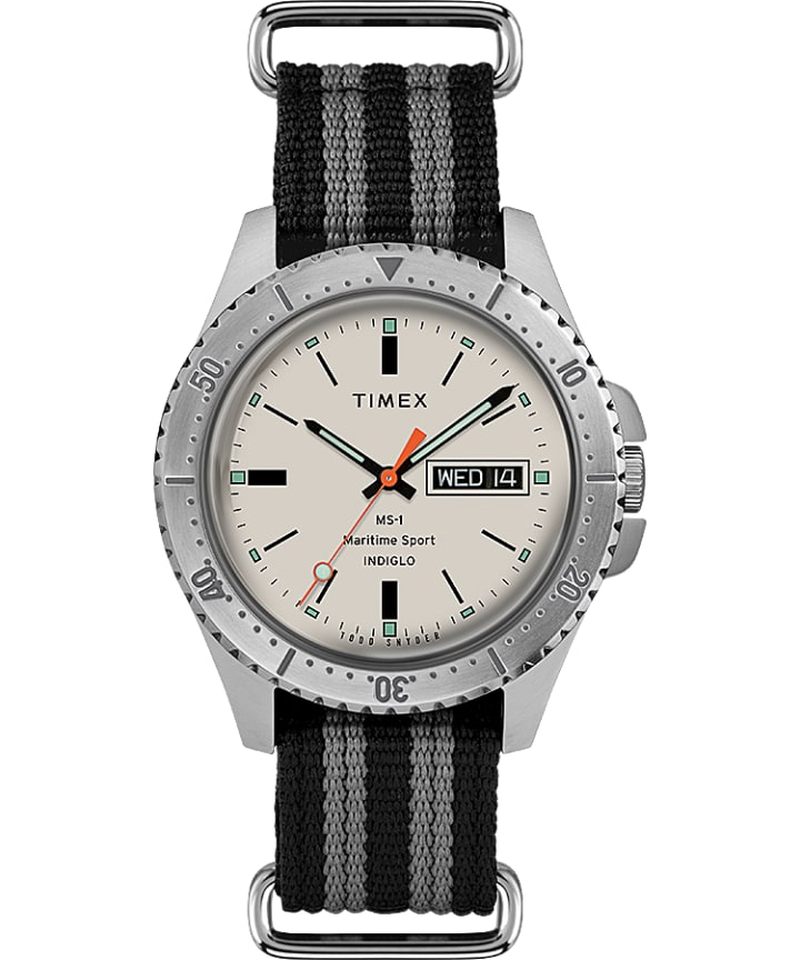 Timex x Todd Snyder MS-1 41mm Fabric Strap Maritime Sport  large