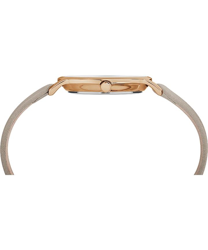 Metropolitan 34mm Leather Strap Watch Rose-Gold-Tone/Gray large