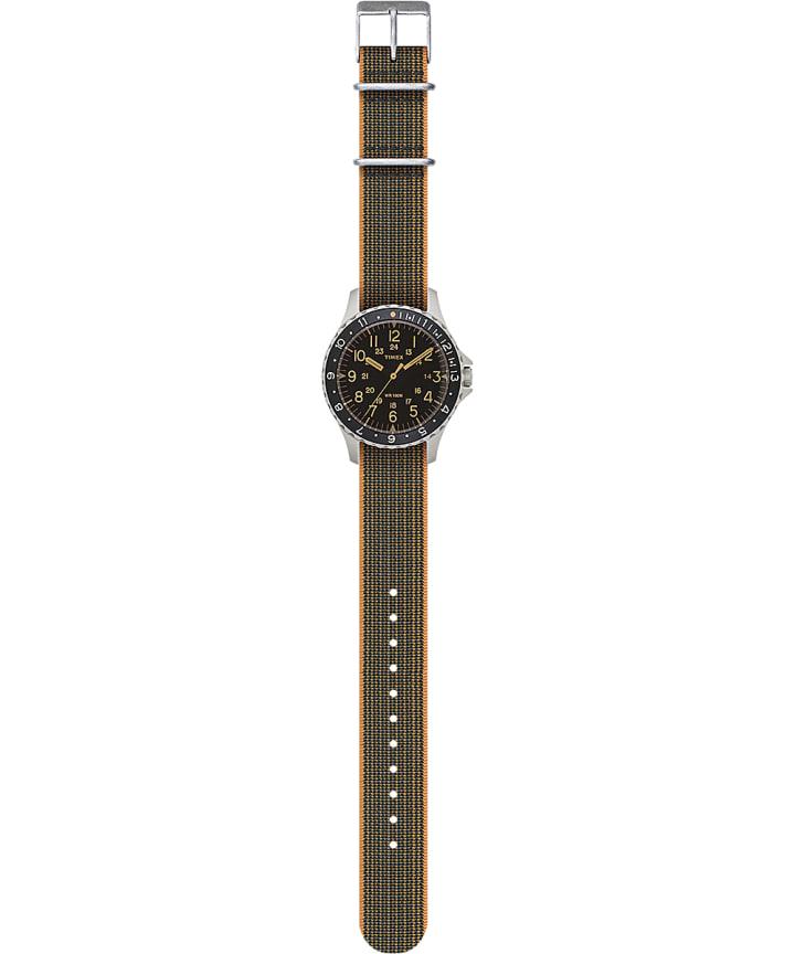 Navi Ocean 38mm Elastic Fabric Strap Watch Stainless-Steel/Black large
