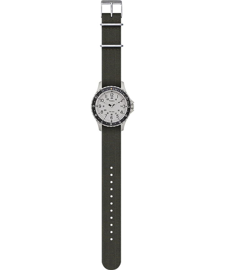 Navi Ocean 38mm Elastic Fabric Strap Watch Stainless-Steel/Green/Blue/Black large