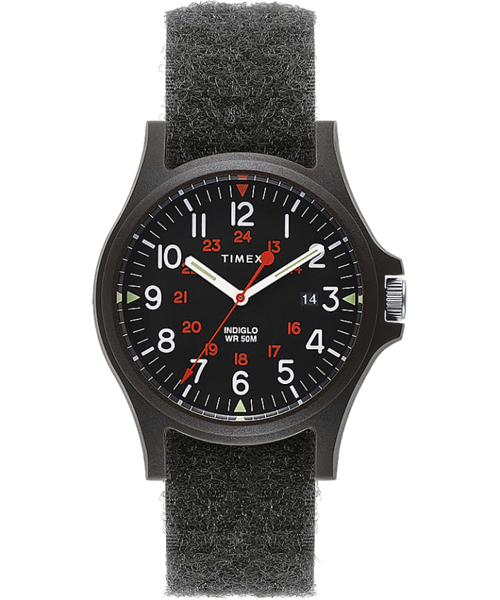 Acadia 40mm Hook-and-Loop Fabric Strap Watch  large