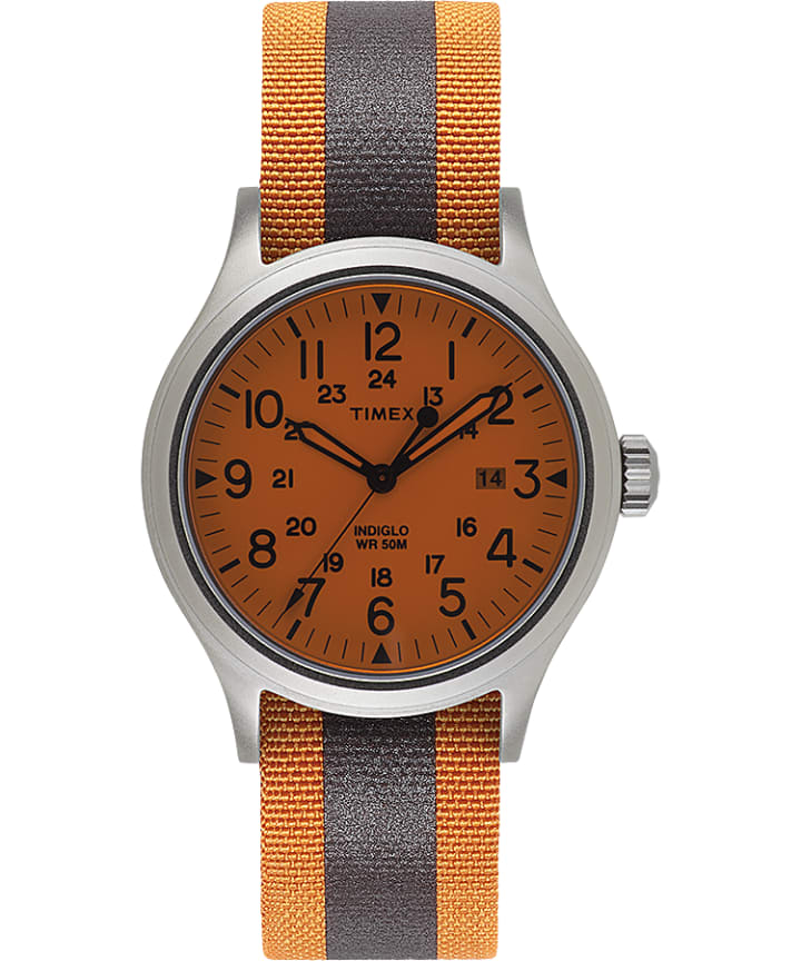 Allied 40mm Reflective and Reversible Fabric Strap Watch  large