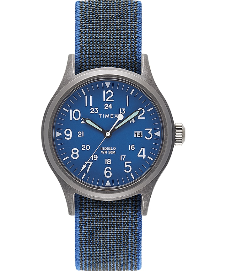 Allied 40mm Elastic Fabric Strap Watch  large