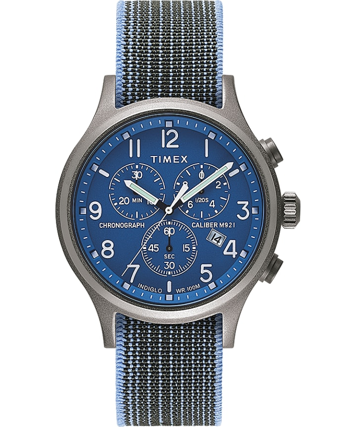 Allied Chronograph 42mm Elastic Fabric Strap Watch  large