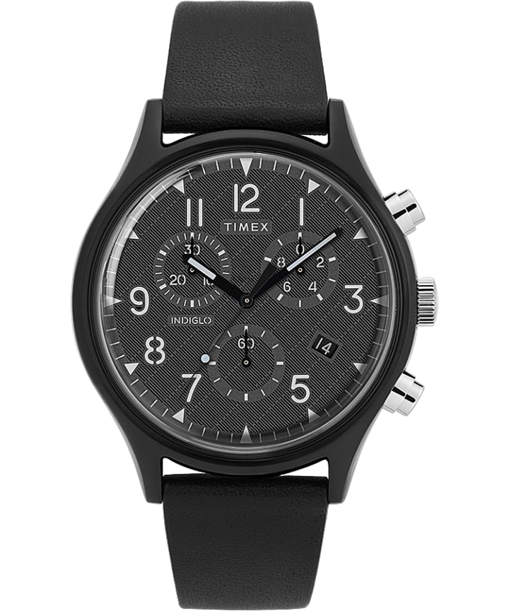 MK1 Supernova Chronograph 42mm Leather Strap Watch  large