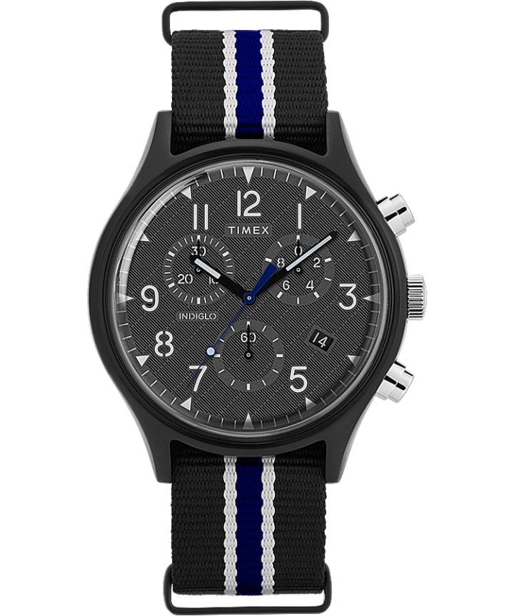 MK1 Supernova Chronograph 42mm Fabric Strap Watch  large