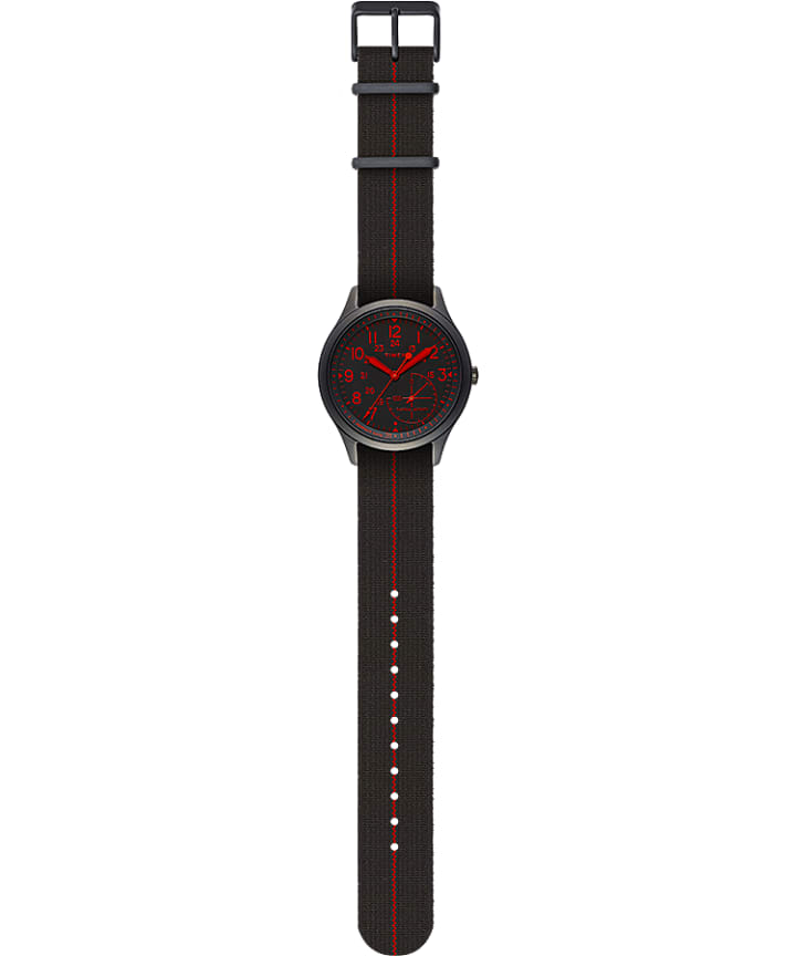 IQ+ MOVE 41mm Elastic Fabric Strap Watch Black large