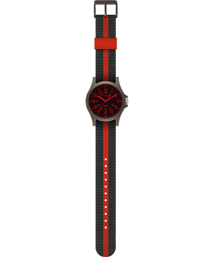 Acadia 40mm Fabric Strap Watch Green/Black large